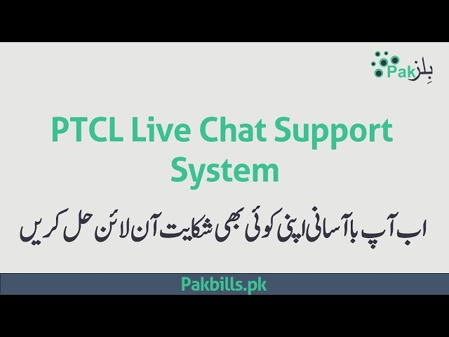 PTCL Online Live Chat Support System