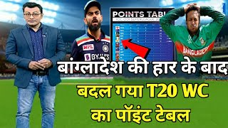 ICC T20 world cup points table | Bangladesh vs Scotland after match points table | T20 World Cup
