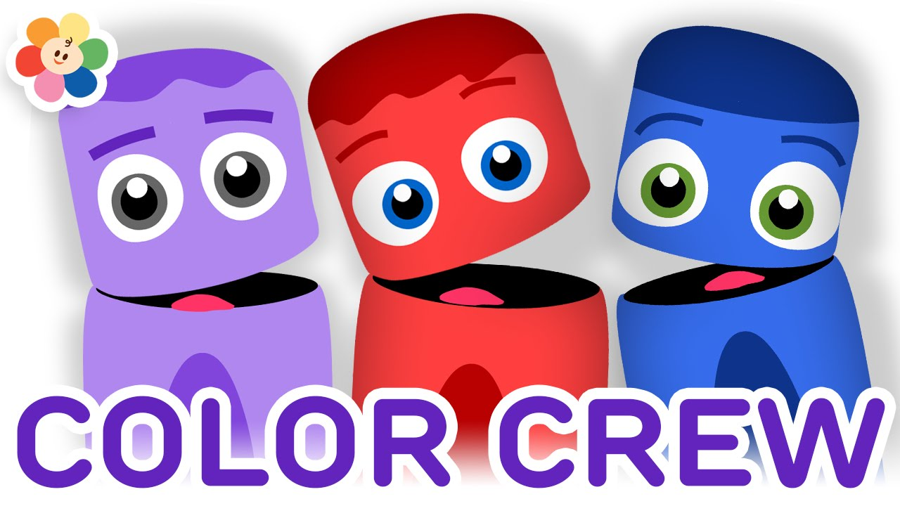 color collection 9 red blue purple color learning videos for kids color crew babyfirst tv youtube - Kids Pictures To Color