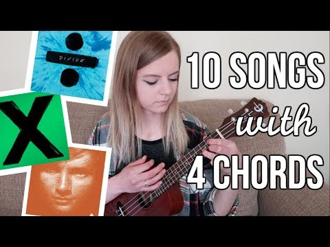 4 basic chords, 10 Ed Sheeran songs on ukulele!