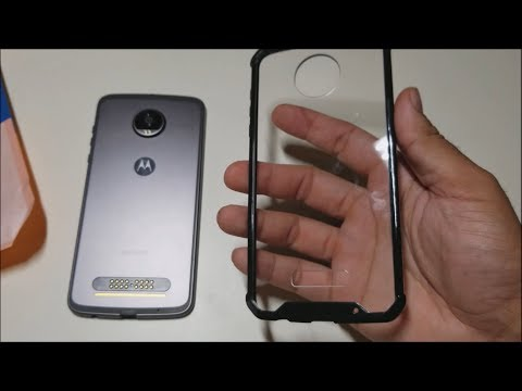Cover On Moto Z2 Play Clear Case!