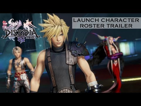 Dissidia Final Fantasy NT Launch Character Roster [w/subs]