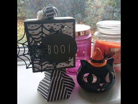 Halloween Pedestal Sign Wood Knot ¦ DIY Craft room decor ¦ My Scrap Chick SVG