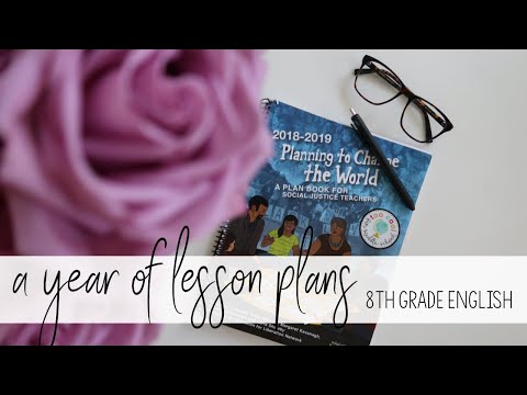 MY ENTIRE YEAR IN LESSON PLANS | 8TH GRADE ELA