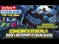 Comeback Is Real  Post Revamp Yi Sun Shin  Top 3 Global Yi Sun Shin  JoyDara ❤   Mobile Legends
