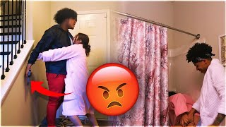 CAUGHT IN THE SHOWER WITH YOUR GIRLFRIEND PRANK! 😱😡 (IT GOT REAL)