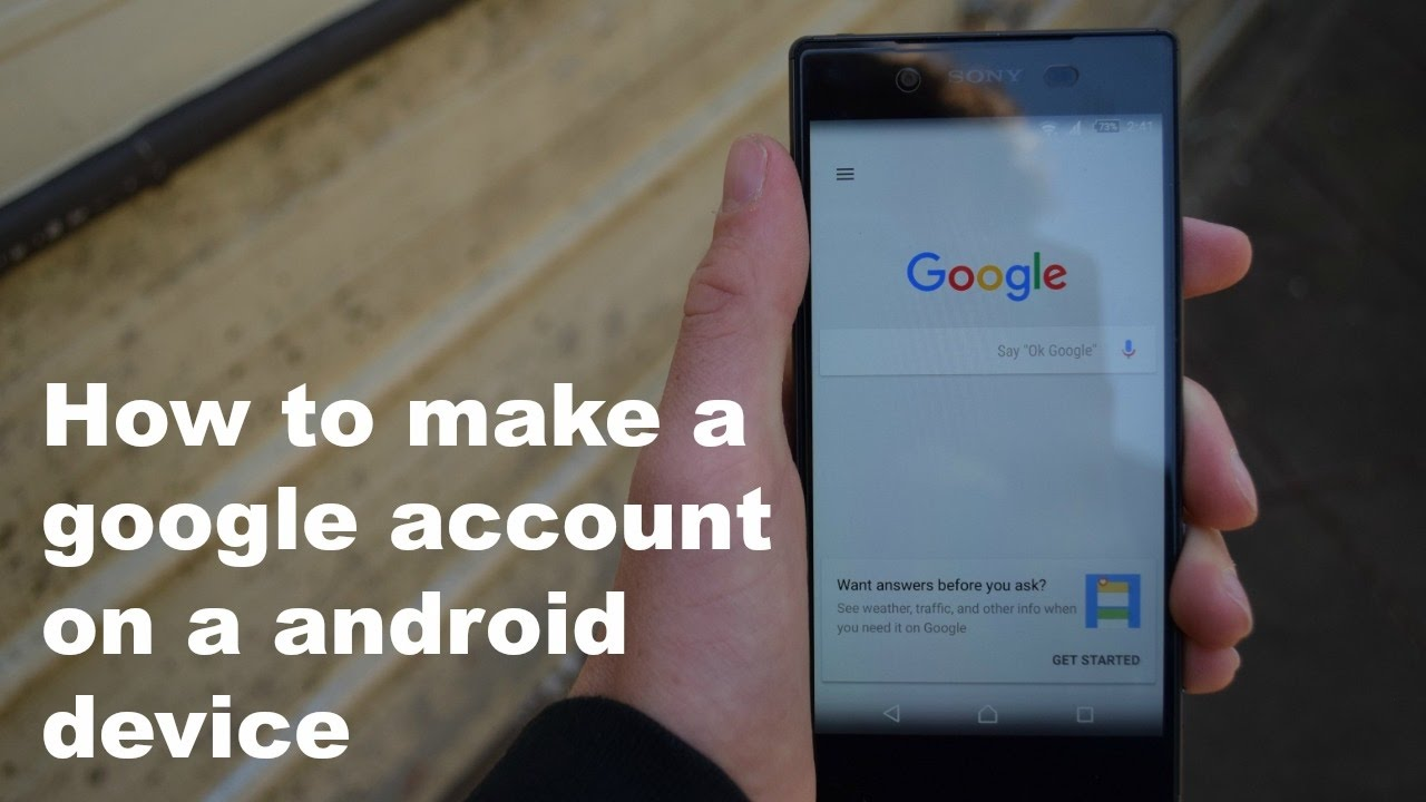 how to create a google account on android