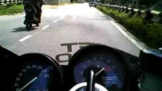 zxr 250 0 100kmh speed run with enlarge piston