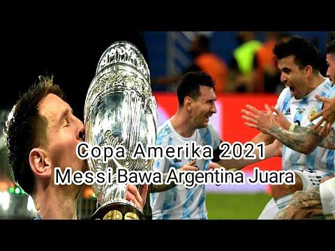 Momen Haru Messi Saat Juara Bersama Argentina Di Copa Amerika 2021.