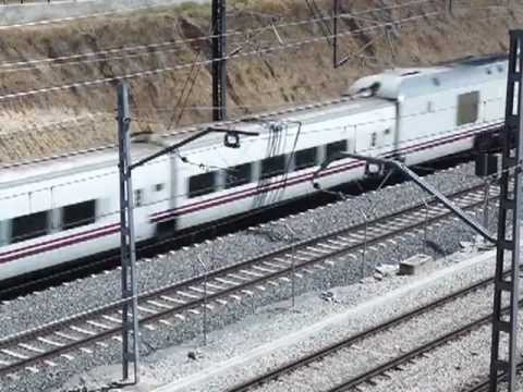 Spanish Talgo 730 Hybrid Train bound from Madrid to A Coruna