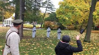 Смотреть видео Главное не потерять сноровку когда кидаешь гранату Парк Сокольники в Москве онлайн