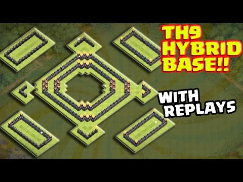 Town hall 9 (Th9) | HYBRID BASE | UNBEATABLE!! | With amazing replay!!!