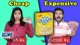 Cheap Vs Expensive Food Challenge | Food Challenge India | Hungry Birds