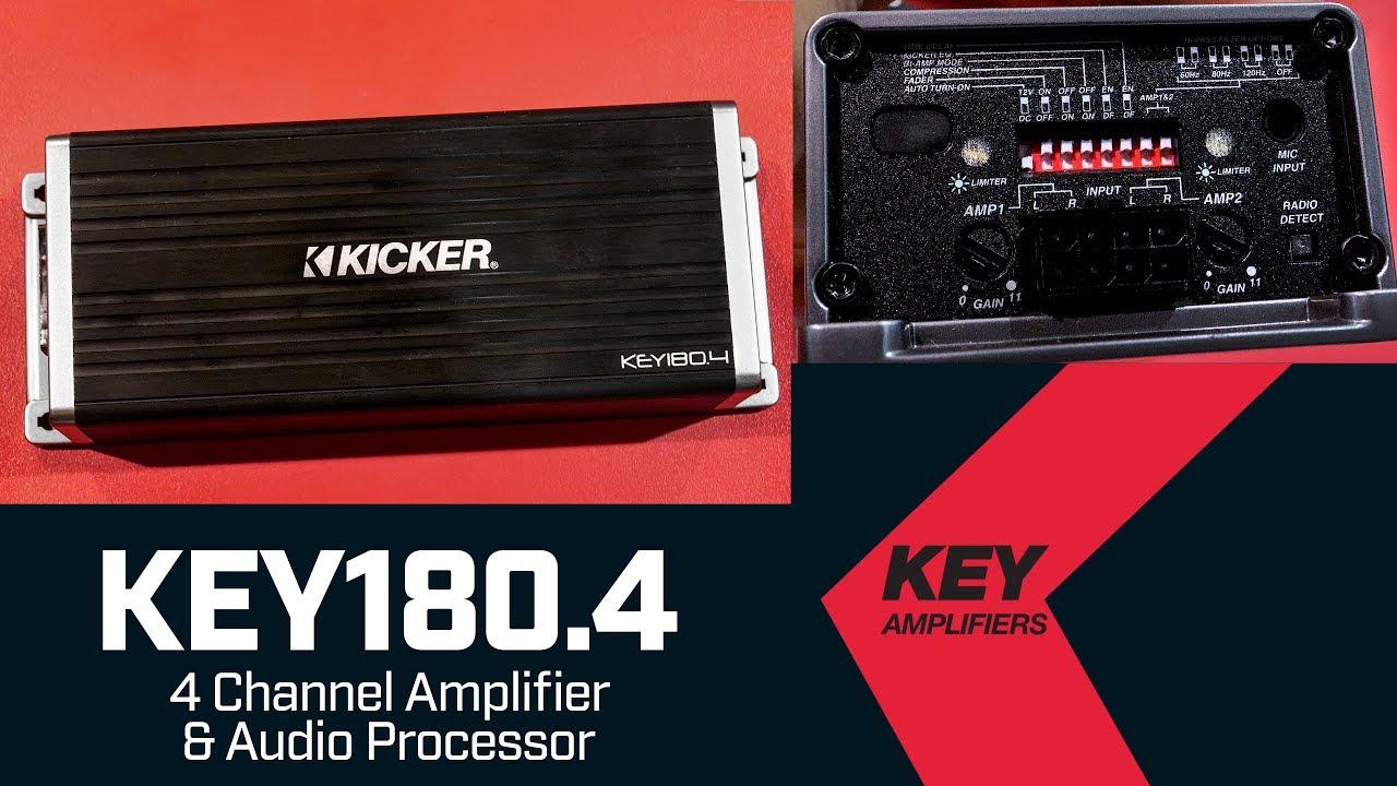 kicker key180 4 smart amplifier - 4 channel amp and audio processor
