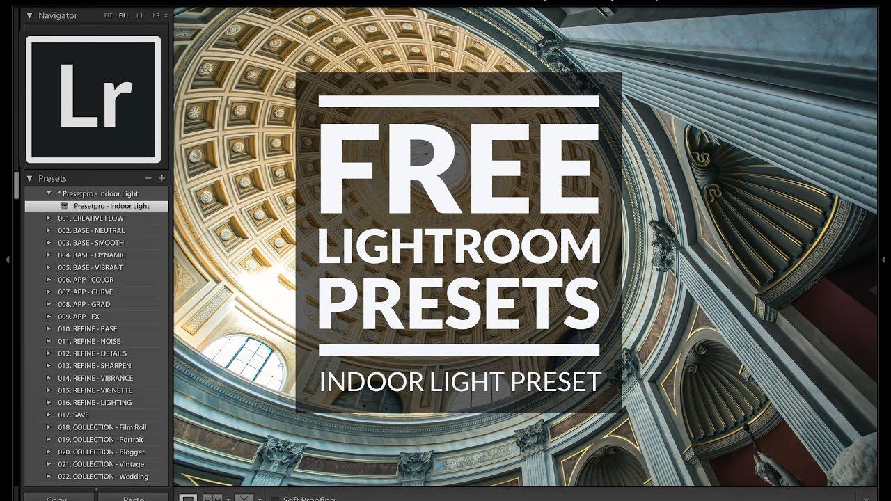 Free Lightroom Preset | Indoor Light - Presetpro com