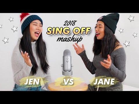 2018 Top Songs SING OFF Mashup (vs. my sister ) | JENerationDIY