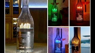 CandleCage - The biggest Candle Holder On The Market - Candle Lighting in a Wine Bottle.