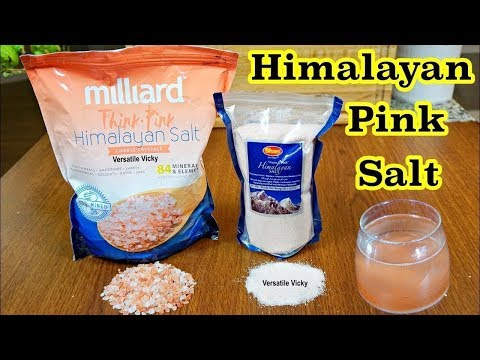 Himalayan Pink Salt Benefits | Himalayan Salt Sole Water