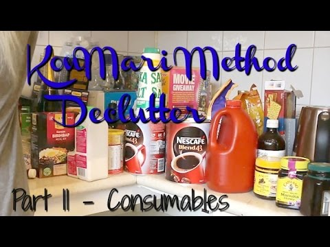 Konmari Method Declutter - Part 11 | Consumables