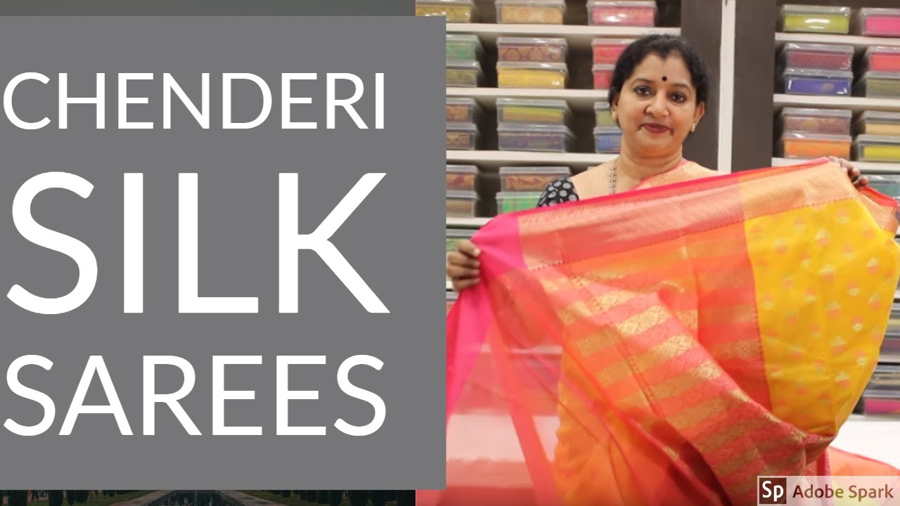 Chanderi Silk Sarees Gayathri Reddy Traditional Designer Studio Youtube