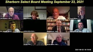 Sherborn Select Board Meeting Sept  23, 2021