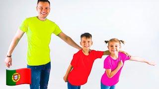 Cinco Crianças Canção Colorida - Coleção de vídeos de jogos engraçados