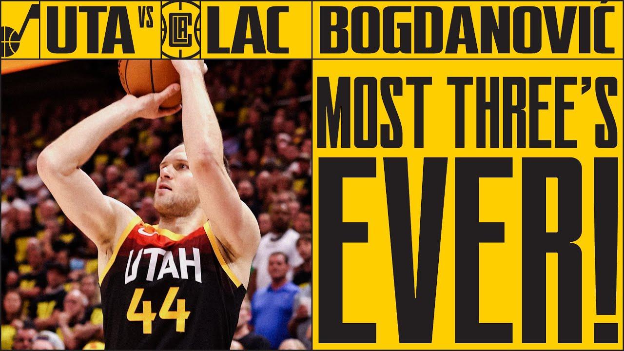 Bogey hit 9 THREES in Game 5 against the Clippers | UTAH JAZZ