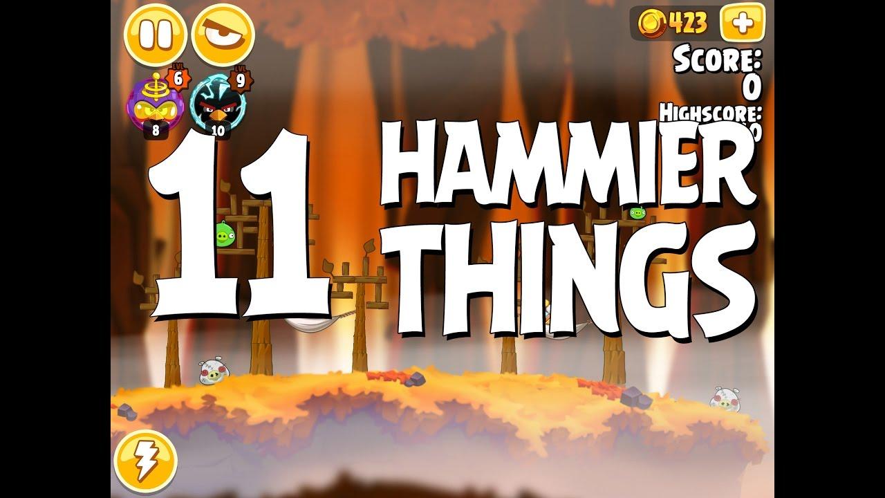 Angry Birds Hammier Things angry birds seasons hammier things level 1-11 walkthrough 3 star