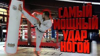 Супер удар чемпиона мира по каратэ киокушинкай Тариела Никоилешвили - неожиданный удар с разворота