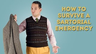 How to Survive a Sartorial Emergency - Hacks for Lost or Damaged Clothing