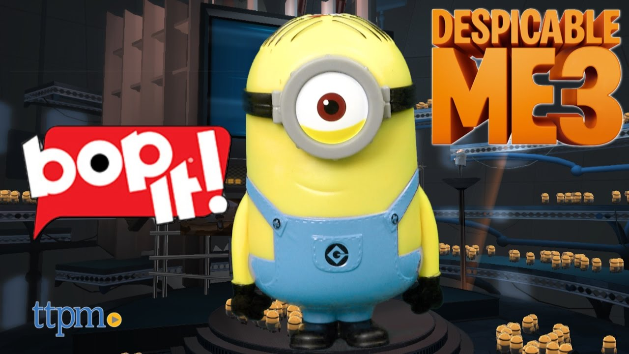 Despicable Me 3 Bop It Minion Stuart From Hasbro Youtube