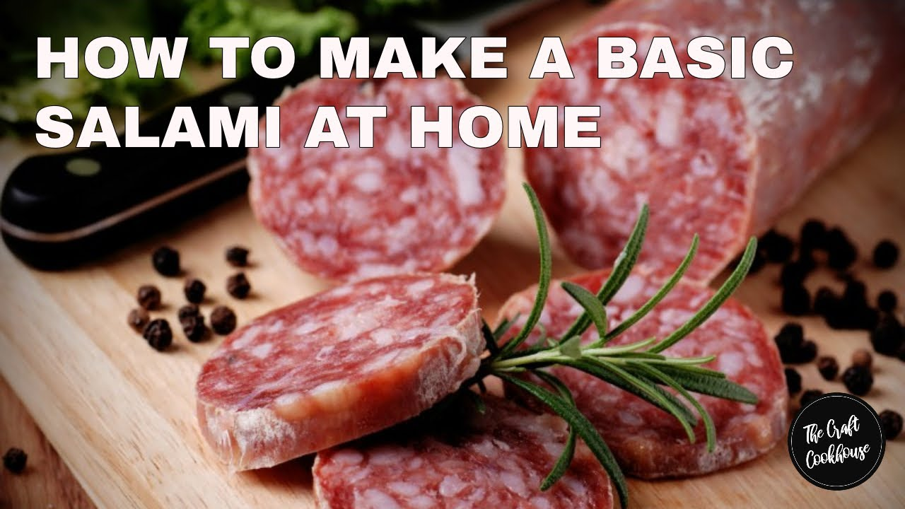 Download How to make a Simple Salami at home - EASY FOOLPROOF RECIPE