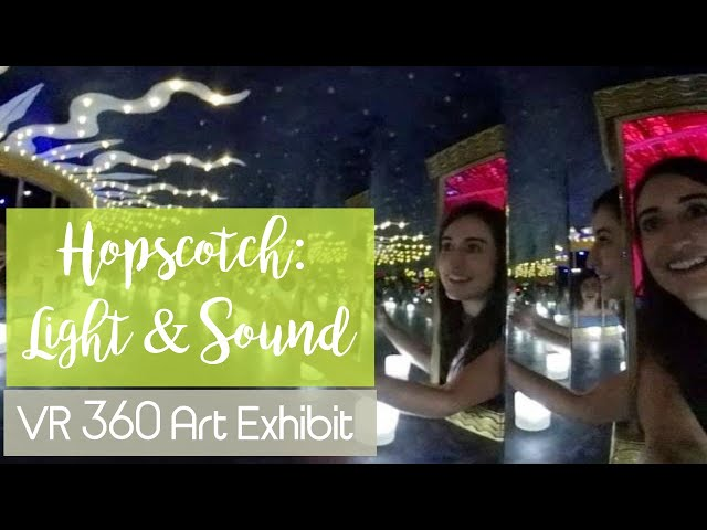 4k VR 360 - Hopscotch: Light & Sound Interactive Art Exhibit - Mirror Box