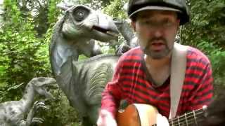 DANCING ON IGUANODON - music video for kids. Dinosaur Songs by Daddy Donut