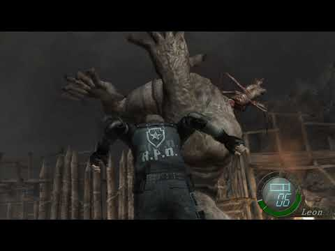 Resident Evil 4 - try knife El Gigante without using guns