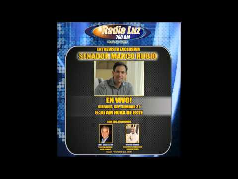 Entrevista de Senador Marco Rubio con Irving Ravelo y Tony Calatayud en Radio Luz