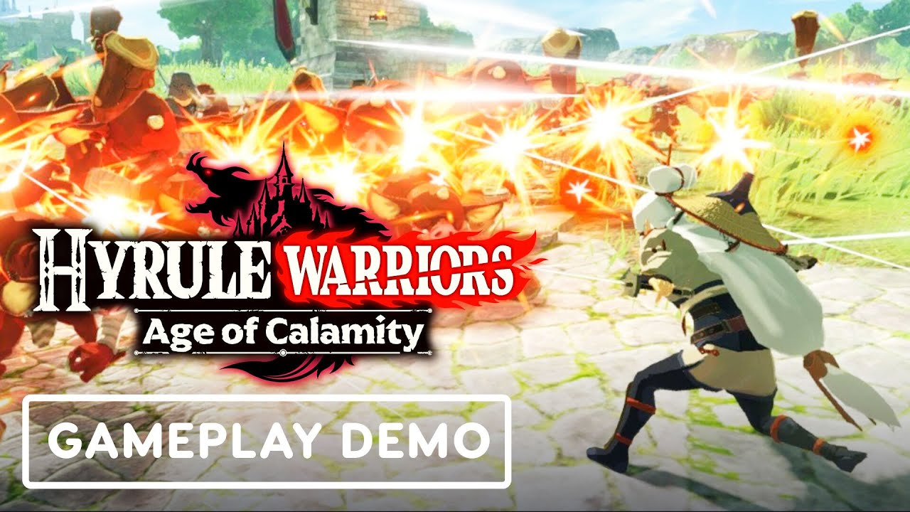 Hyrule Warriors Age Of Calamity Impa Vs Hinox Gameplay Commentary Youtube