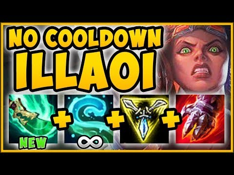 WTF! NEW UNLIMITED TENTACLE SLAM ILLAOI IS 100% BUSTED! ILLAOI S9 TOP GAMEPLAY! - League of Legends