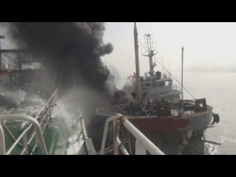 Deadly oil tanker explosion in China: Massive oil leak after ball of fire rips through tanker