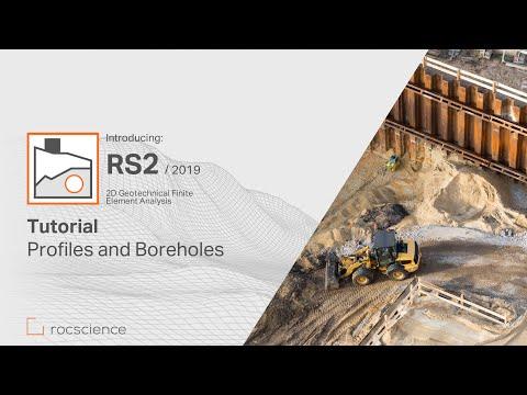 RS2 Tutorial - Profiles & Boreholes - YouTube