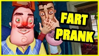 WHOOPEE CUSHION PRANK ON MY NEIGHBOR! - Hello Neighbor Mod