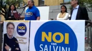 """Milazzo, primo comizio del """"leghista"""" Pino Ragusi (Noi con Salvini)"""