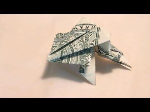 Origami Jumping Dollar Frog Youtube