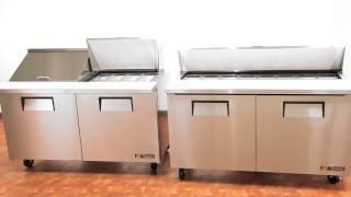 True Mfg Sandwich Salad Food Prep Table Refrigerators
