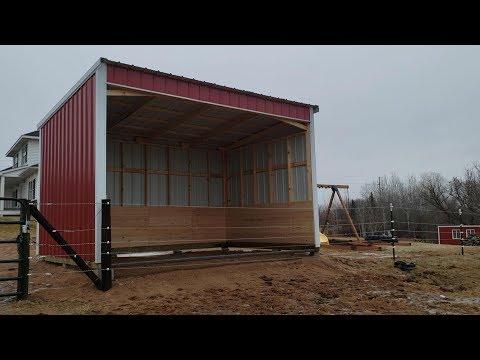 Adding Lean Barn Shelter For Horses Or Cattle