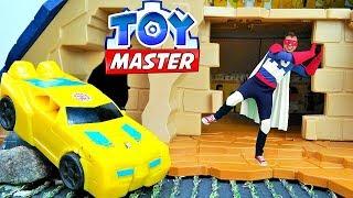 Игры с Трансформерами. Той Мастер и Автоботы ищут сокровища!