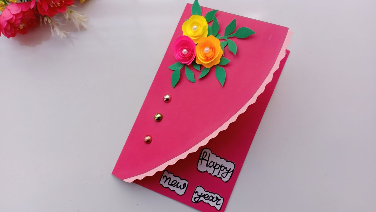 Beautiful Handmade Happy New Year 2019 Card Idea / DIY ...