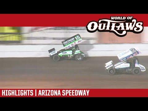 World of Outlaws Craftsman Sprint Cars Arizona Speedway April 7, 2018 | HIGHLIGHTS