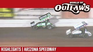 World of Outlaws Sprint Cars Arizona Speedway 4/17/18