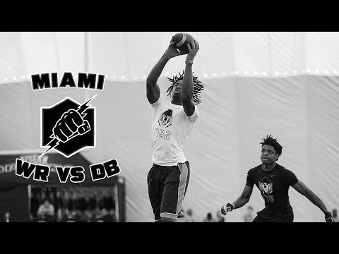 Nike Football's The Opening Miami 2017 | WR vs DB 1 on 1's